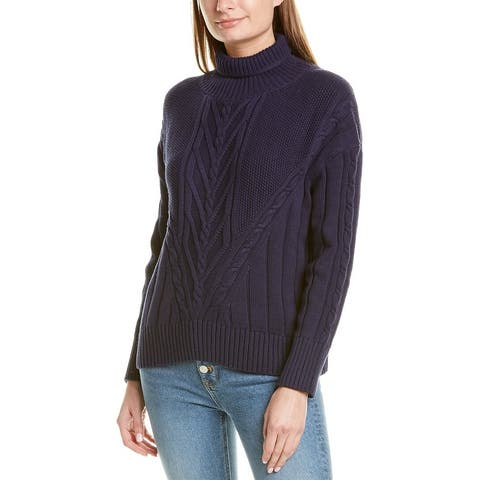 J.Crew Chunky Cable Turtleneck Sweater