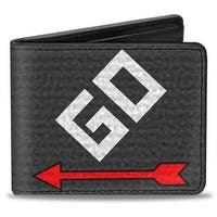 Go Space + Monopoly Grays Red White Bi Fold Wallet - One Size Fits most