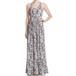 Michael Kors NEW Black White Womens Size Small S Twist-Back Maxi Dress
