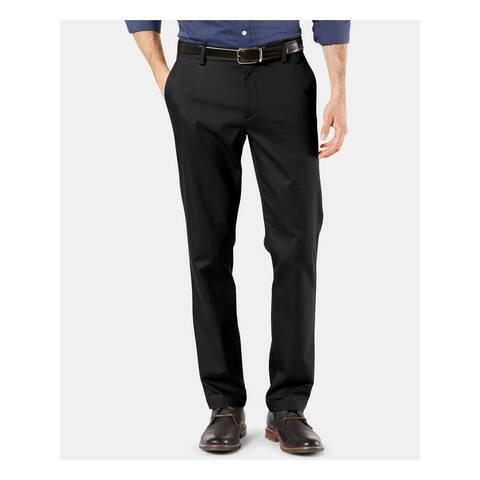 DOCKERS Mens Black Tapered, Work Pants Size 52W/ 32L - 52W/ 32L