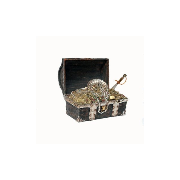 Christmas at Winterland WL-TRBOX-02 Halloween 2 Foot Tall Pirate's Treasure Chest Figurine - brown - N/A