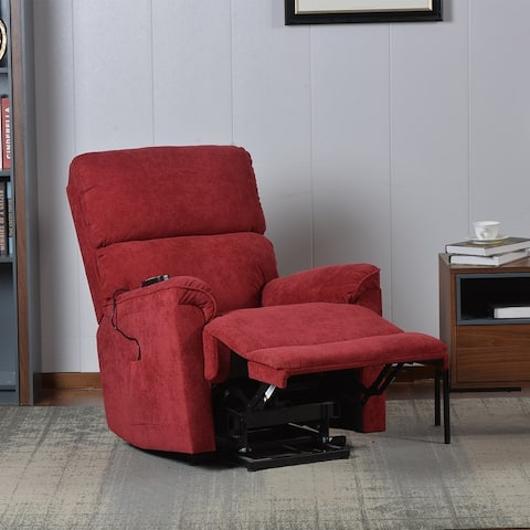 Nestfair Power Lift Chair with Massage Soft Fabric Upholstery Recliner Chair with Remote