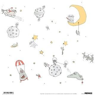 "Alexandra Renke Winter Paper 12""X12""-Intergalactic Christmas"
