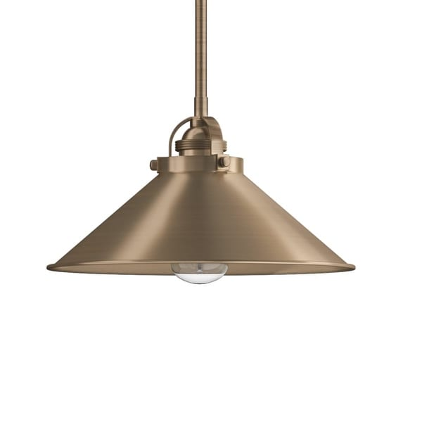 """Park Harbor PHPL5451 12"""" Wide 1-Light Single Pendant with Industrial Style Cone Shade - n/a"""