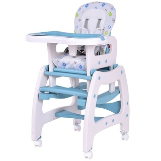 Exceptionnel Costway 3 In 1 Baby High Chair Convertible Play Table Seat Booster Toddler  Feeding Tray Blue