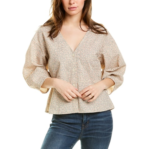 Madewell Florentine Peplum Top - DAISY DOT ANTIQUE LACE