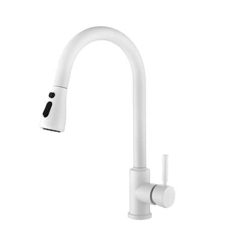 Ryane Pull Down Single Handle Kitchen Faucet - 8.27x10.6x15.73