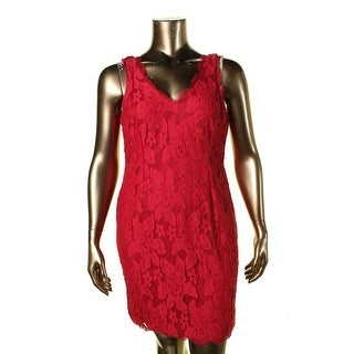 Adrianna Papell Womens Semi-Formal Dress Lace Sleeveless