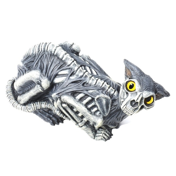 14 inch Zombie Skeleton Cat Halloween Prop