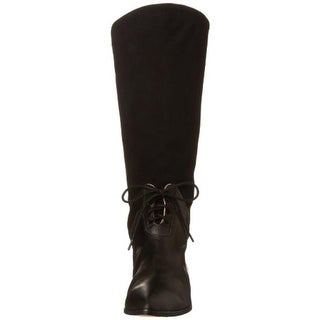 FIEL Womens Mid-Calf Boots Suede Pull On