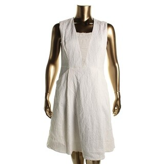 Elie Tahari Womens Lindsay Sleeveless Knee-Length Casual Dress