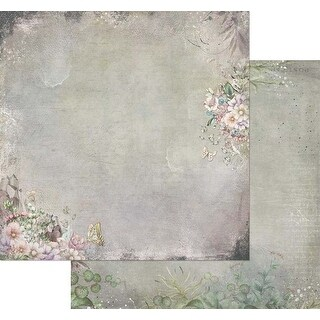 "Tattered Flourish - Tattered Garden Double-Sided Cardstock 12""X12"" (20/Pack)"