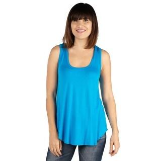 Link to 24seven Comfort Apparel Round Hemline Razorback Tank Top Similar Items in Women's Plus-Size Clothing