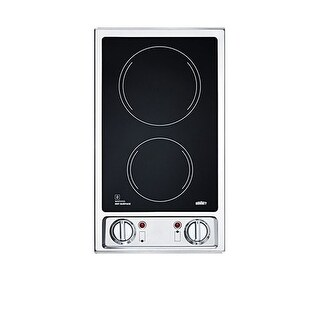 Summit CR2B120 Two-Burner 120V Electric Glass Cooktop