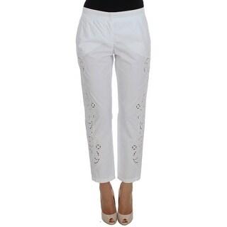 Dolce & Gabbana Dolce & Gabbana White Floral Cutout Dress Sicily Pants