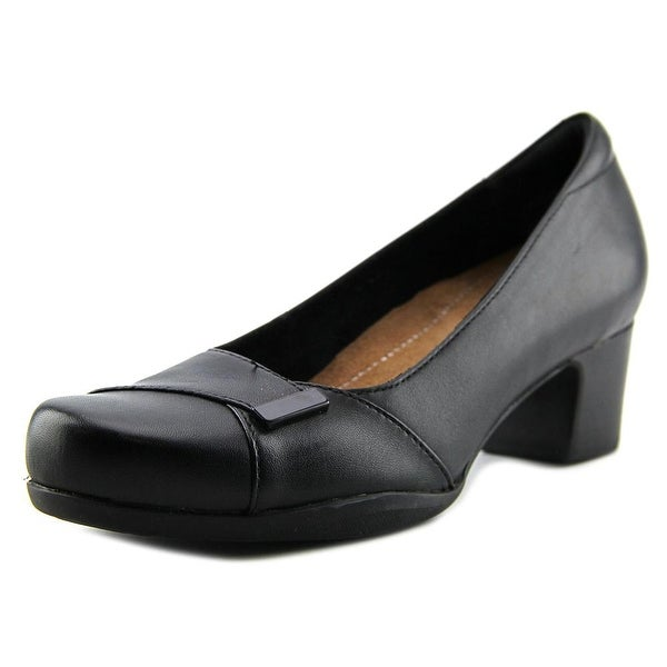 Clarks Artisan Rosalyn Belle Women Round Toe Leather Black Heels
