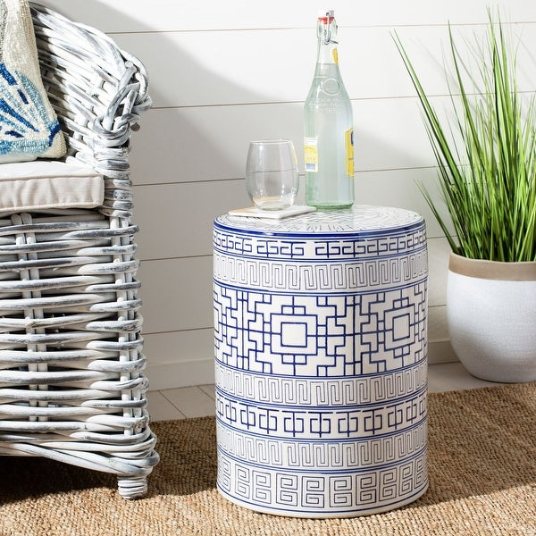 Safavieh Parri Indoor / Outdoor Ceramic Decorative Garden Stool. Opens flyout.