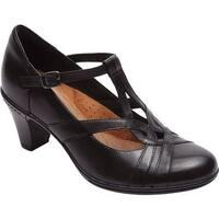 Rockport Women's Cobb Hill Marilyn T-Strap Black Leather