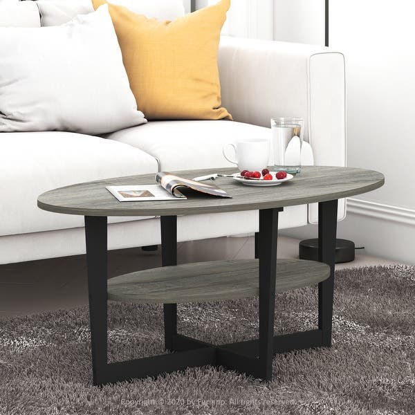 Home & Kitchen Coffee Tables FURINNO Jaya Oval Coffee Table ...