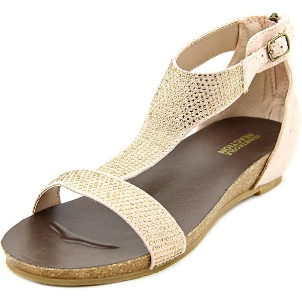 Kenneth Cole Reaction Lexi Open-Toe Synthetic Flats