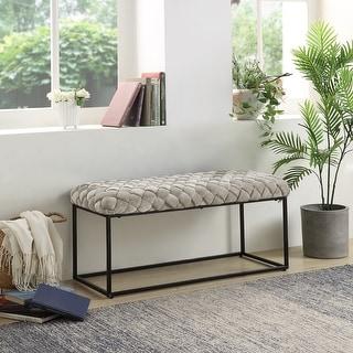 Link to Walter Upholstered Velvet Bench Similar Items in Living Room Furniture