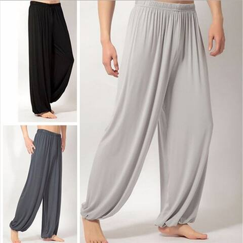 Unisex Casual Sport Jogger Baggy Trouser Jumpsuit Harem Yoga Pants Bottom Slacks