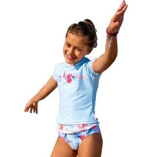 Link to Sun Emporium Halcyon Days Print Rash Guard Bikini Set Big Girls Similar Items in Girls' Clothing