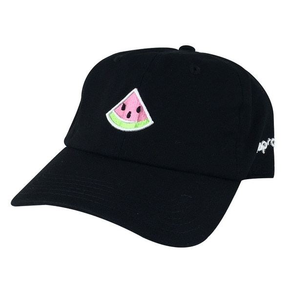 a12a829abe5 Shop Emoji 3D Watermelon Unstructured Adjustable Dad Hat Cap - Black - Free  Shipping On Orders Over  45 - Overstock.com - 16836238
