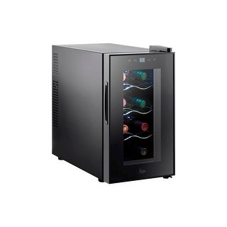 Monoprice 8 BottleThermoelectric Wine Cooler - Black with Easy-to-Use Controls
