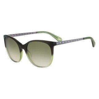 Diane Von Furstenberg Womens Demi Butterfly Sunglasses Gradient Ombre Frame - olive gradient - o/s