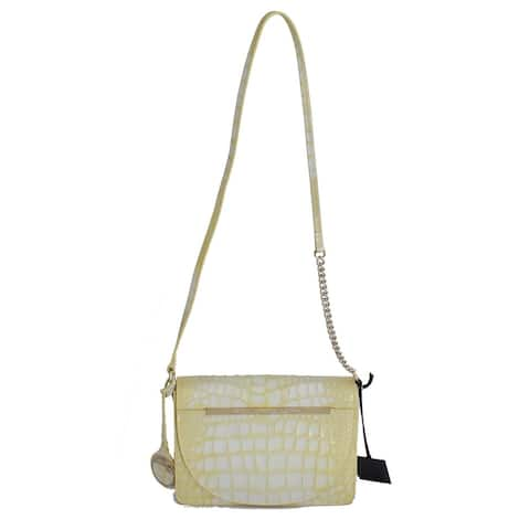 Cavalli Yellow Leather Hand Shoulder Messenger Women's Bag - One Size
