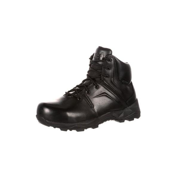Rocky Work Boots Mens Elements of Service Duty Light Black