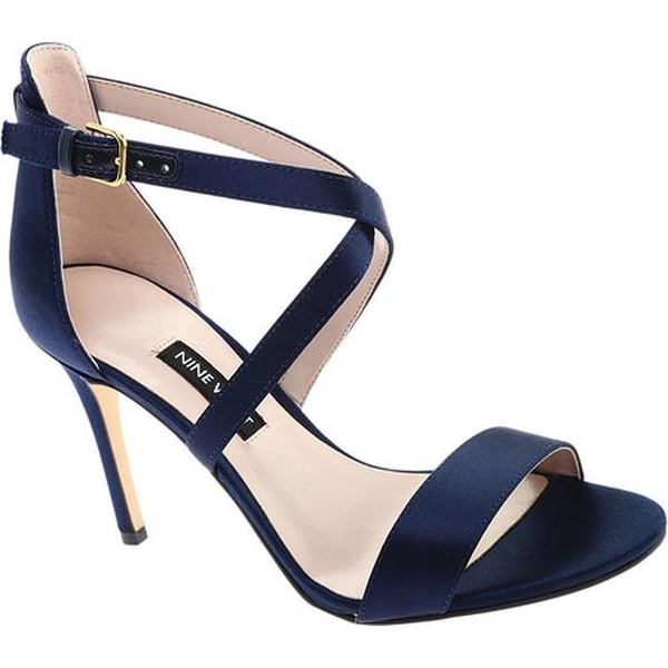 1666b3230 Shop Nine West Women's My Debut High Heel Sandal Navy Satin - Free ...