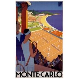 ''Monte-Carlo'' by Roger Broders Vintage Advertising Art Print (38.875 x 24 in.)