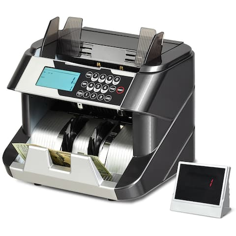 Gymax Money Counter Machine Value Counting with UV MG IR DD