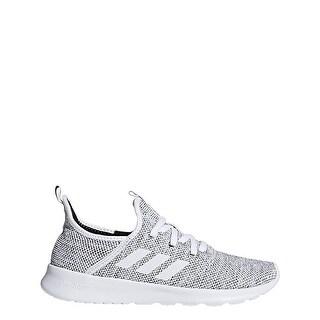 Adidas Women Cloudfoam Pure Running Shoe, White/White/Black, 8.5 M Us