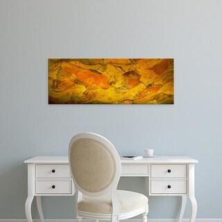 Easy Art Prints Panoramic Image 'Paleolithic paintings, Altamira Cave, Santillana del mar, Cantabria, Spain' Canvas Art