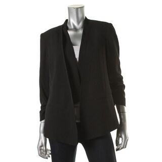 Jones New York Womens Asymmetrical Ruched Blazer