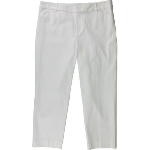 Charter Club Womens Straight Leg Casual Trouser Pants