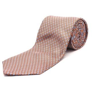 Ermenegildo Zegna Men Slim Silk Neck Tie Orange Blue