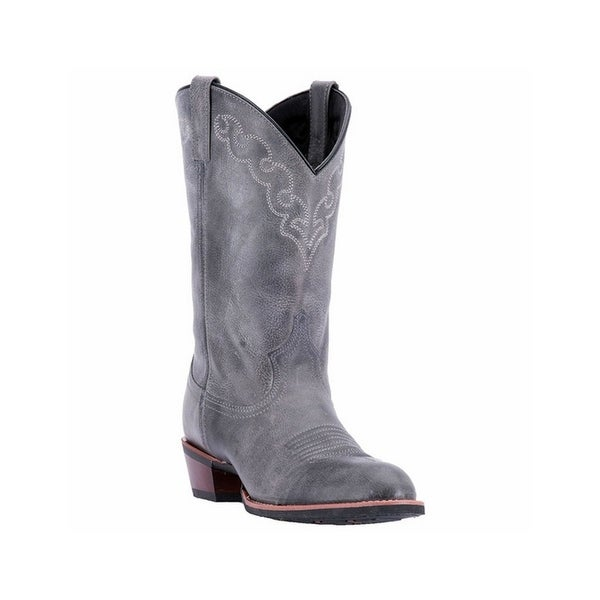 Dingo Western Boots Mens Broad Leather Koval Distressed Gray