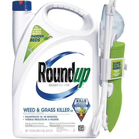 Scotts 5200510 Roundup Ready to Use Weed & Grass Killer III, 1.33 Gallon