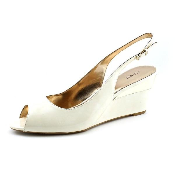Alfani Bess Women Open Toe Synthetic Ivory Wedge Sandal
