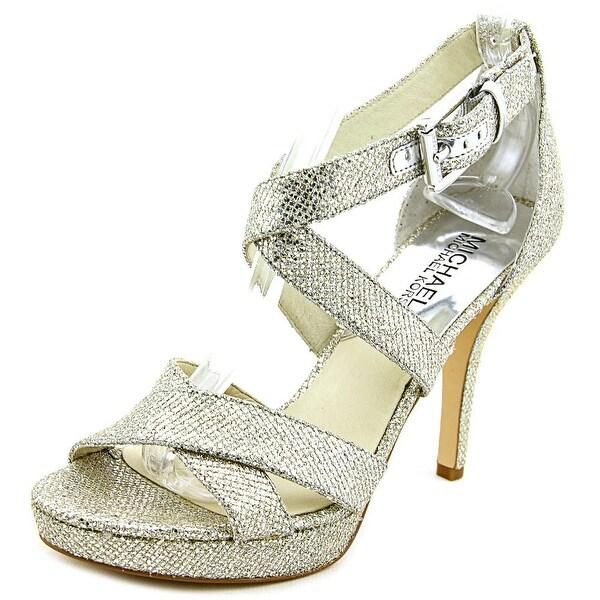 Michael Michael Kors Evie Women Open Toe Canvas Sandals