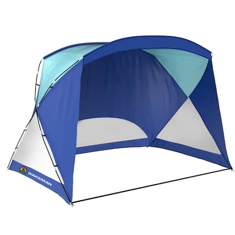 Wakeman Beach Tent- Sun Shelter for Shade with UV Protection, Water and Wind Resistant, Easy Set Up and Carry Bag Yellow