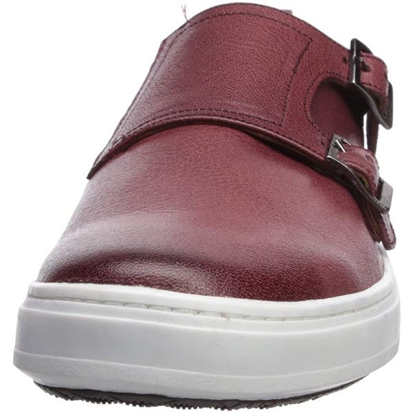 Size 8.0 Cognac Washed Nappa Details about  /Brothers United Mens Leather Luxury Double Monk