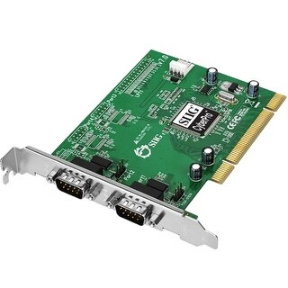 SIIG JJ-P02012-S7 SIIG CyberSerial Dual PCI - 2 x 9-pin DB-9 Male RS-232 Serial PCI - 1 Pack