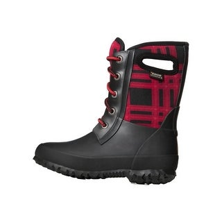 Bogs Outdoor Boots Girls Amanda Winter Plaid Waterproof Lace Up 72138