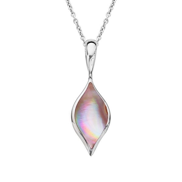 Kabana Pink Mother-of-Pearl Pendant in Sterling Silver