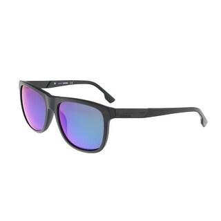 Diesel DL0187 5702x Black Round Sunglasses - 57-17-145
